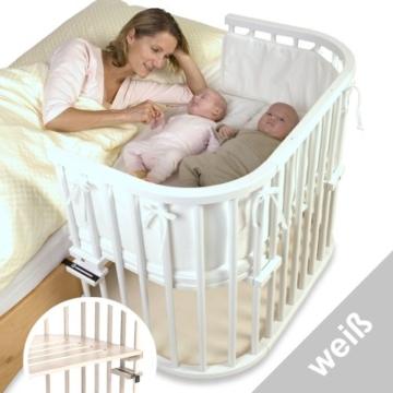 babybay maxi 160102 - Beistellbett / Baby-Bettchen 'Das Große', weiß lackiert - 5