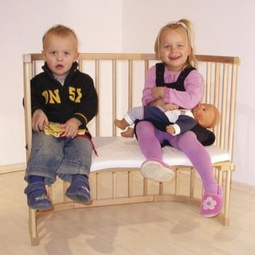 babybay maxi 160102 - Beistellbett / Baby-Bettchen 'Das Große', weiß lackiert - 6
