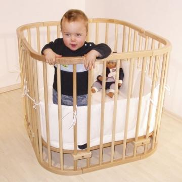 babybay maxi 160102 - Beistellbett / Baby-Bettchen 'Das Große', weiß lackiert - 8