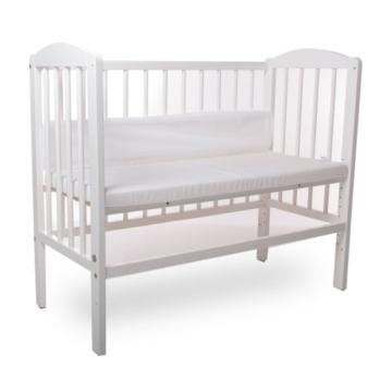 Kinderbett Gitterbett Beistellbett Maria 90x40cm - Weiß - 4