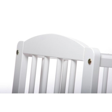 Kinderbett Gitterbett Beistellbett Maria 90x40cm - Weiß - 6