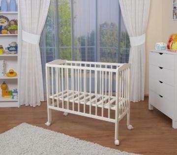 WALDIN Baby Beistellbett mit Matratze und Nestchen, 2 Modelle wählbar,weiß lackiert - 3