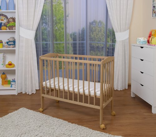 waldin baby beistellbett mit matratze 2 modelle w hlbar natur unbehandelt beistellbett f r babys. Black Bedroom Furniture Sets. Home Design Ideas