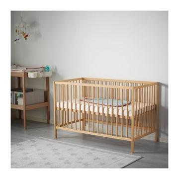 IKEA verstellbares Babybett SNIGLAR Bettchen in 60x120cm Gitterbett aus massiver Buche höhenverstellbar - 3