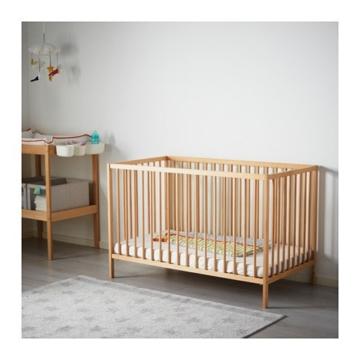 IKEA verstellbares Babybett SNIGLAR Bettchen in 60x120cm Gitterbett aus massiver Buche höhenverstellbar - 4