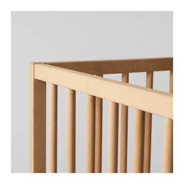 IKEA verstellbares Babybett SNIGLAR Bettchen in 60x120cm Gitterbett aus massiver Buche höhenverstellbar - 5